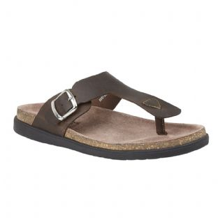 Lotus Grady Mens Brown Leather Toe-Post Sandals